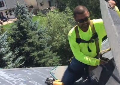 Roofer at work in Oviedo FL
