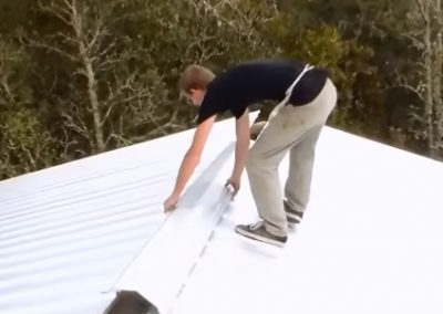 Roofer at a Commercial Roofing Job in Oviedo FL
