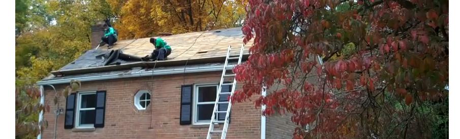 Roofing job in progress
